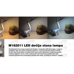 Dečja stona LED lampa 6W slon beli M162011