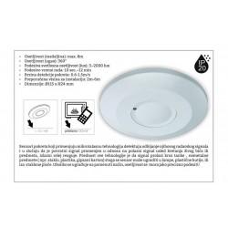 Mikrotalasni senzor pokreta M275 (S) Microwave IP20