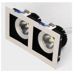Ugradna LED lampa četvrtasta 8Wx2 HL6722L SABRINA-16 2700K