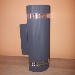 Baštenska zidna lampa 2xGU10 M037 antracit siva