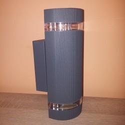 Baštenska zidna lampa 2xGU10 M037 siva