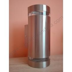Baštenska zidna lampa 2xGU10 HL249 GARDENYA-4 mat hrom