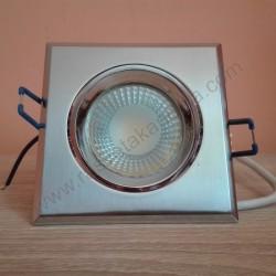 Ugradna LED lampa četvrtasta 5W HL679L VICTORIA-5 6400K mat hrom