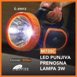 Punjiva prenosna LED lampa M735C