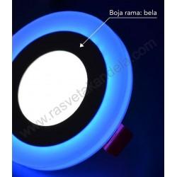LED panel ugradni okrugli M3UO-D 3+3W plava+6500K