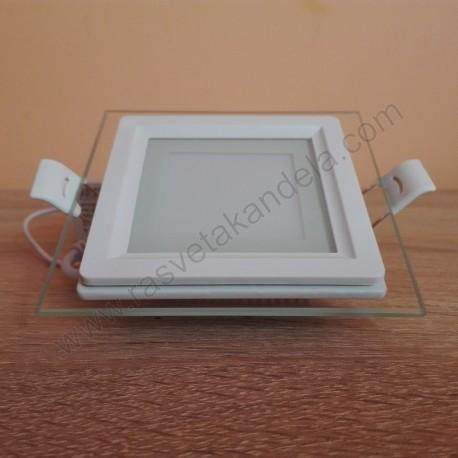 LED panel ugradni 6W MARIA 6 HL684LG 3000K beli stakleni