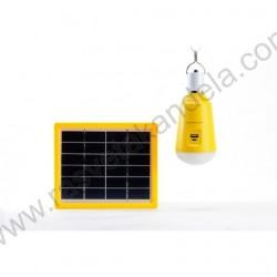 Solarni panel M702002 3W i led sijalica 2W 6500K