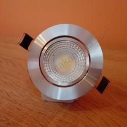 Ugradna LED lampa LILYA-5 okrugla 5W HL699LE 4200K mat hrom