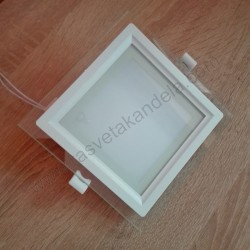 LED panel 12W HL685LG MARIA 12 beli 3000K stakleni