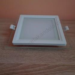 LED panel 12W HL685LG MARIA 12 6400K stakleni