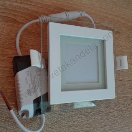 LED panel 6W kvadratni MPC6-K 6500K stakleni