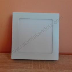 LED nadgradni panel 12W četvrtast M12NK 3000K