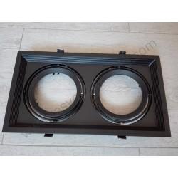 Rozetna aluminijumska - ugradna lampa AR111x2 VT-7222 crna