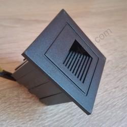 Spoljna ugradna LED lampa 60x60x47mm M953041 3W 4000K crna