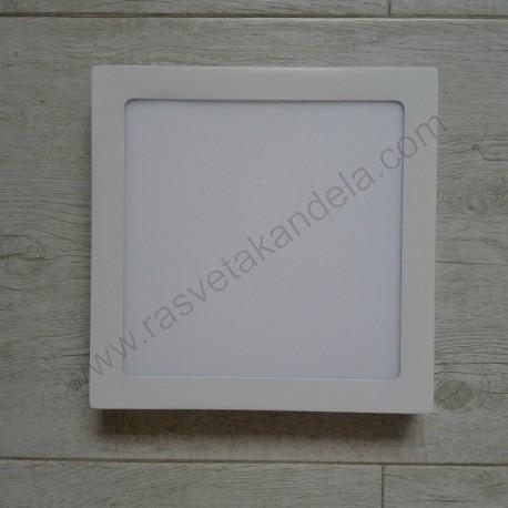 LED nadgradni panel 18W četvrtast M18NK 6500K