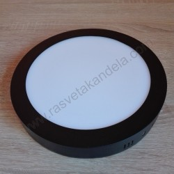 LED nadgradni panel 18W okrugli M18NO-BK 6500K