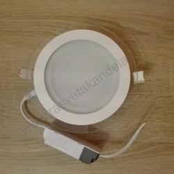 LED panel ugradni 12W okrugli beli HL688LG 3000K CLARA 12