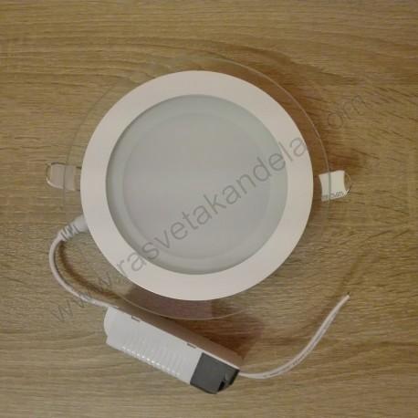 LED panel ugradni 12W HL688LG CLARA-12 6400K stakleni