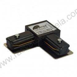 Konektor ugaoni za LED šinu Mitea crni