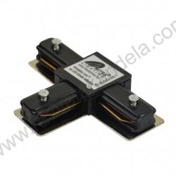 Konektor T za LED šinu Mitea crni