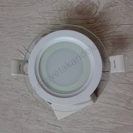LED panel ugradni 6W CLARA-6 HL687LG 3000K stakleni