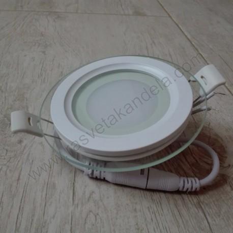 LED panel ugradni 6W CLARA-6 HL687LG 4200K stakleni