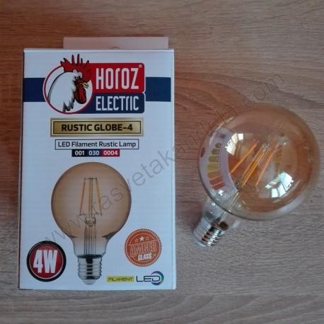 LED sijalica E27 RUSTIC GLOBE Amber glass 4W 2200K