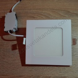 LED panel 6W četvrtast M6UK 3000K