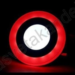 LED panel ugradni okrugli M3UO-D 3+3W crvena+6500K