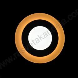 LED nadgradni panel 3+3W okrugli M6NO 3000K+6500K