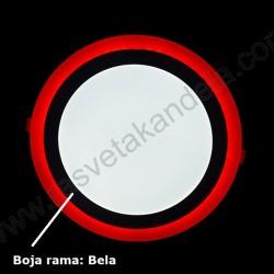 LED panel 18+6W okrugli M18UO-D crvena+6500K