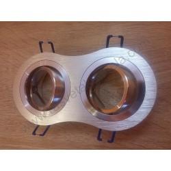 Rozetna - ugradna lampa 2xGU10 VT-783RD aluminijum