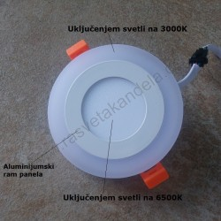 LED panel 3+3W okrugli M3UO-D 3000K+6500K