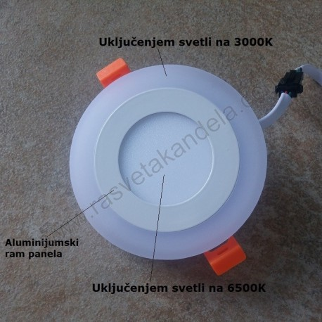 LED panel 3+3W okrugli M3UO-D 3000K-6500K