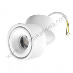 Nadgradna usmeriva LED lampa LDL-DO1-12/W-WH 12W 6400K bela