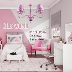 Dečiji luster M11054-3 roze princeza