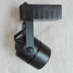 Šinska svetiljka GU10 DAKAR crna