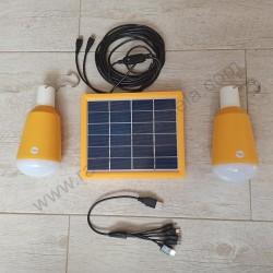 Solarni panel M702003 3W i led sijalice 2 x 2W 6500K