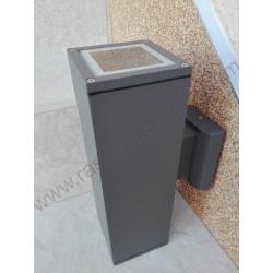 Baštenska zidna lampa 2xE27 M032 antracit siva