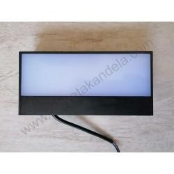 Baštenska zidna LED lampa ANDIZ 9W 4200K crna
