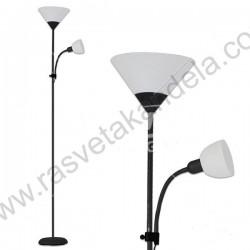 Podna lampa FL202 bela sa crnim telom