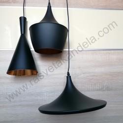 Visilica BLACK-3V metalna crna