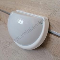 Baštenska zidna lampa YARIMAY sa mikrosenzorom bela