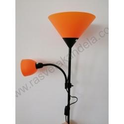 Podna lampa FL202 narandžasta sa crnim telom