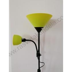 Podna lampa FL202 zelena sa crnim telom