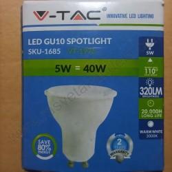 LED sijalica GU10 5W 3000K 110 ° VT-1975