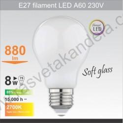 Led sijalica filament E27 A60 8W 6500K