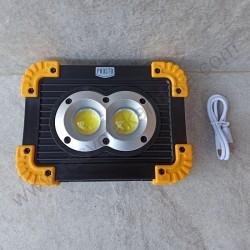 LED reflektor prenosni punjivi COB 2x10W LRF3389