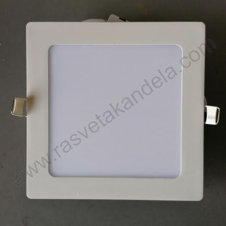 LED panel 12W četvrtast M12UK 3000K