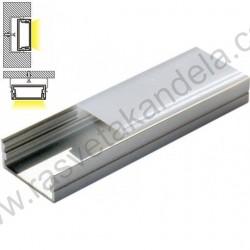 Aluminijumski nadgradni profil MA617 2000x23.5x9.8mm